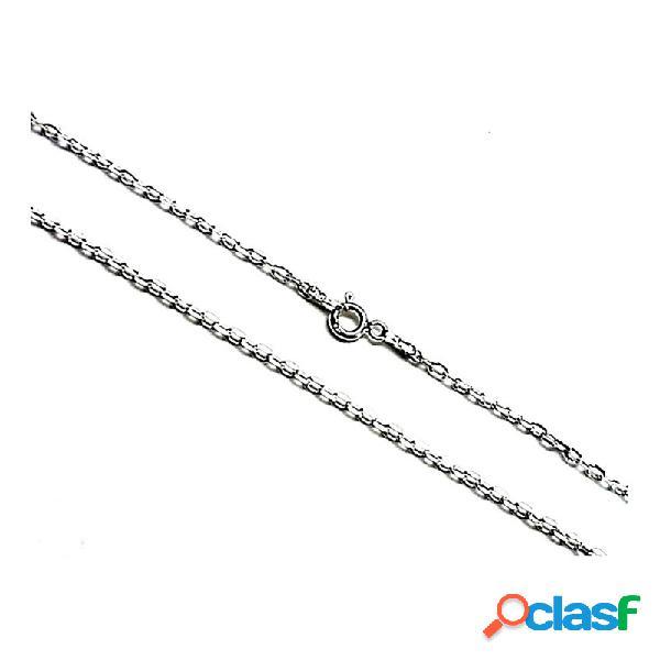 Cadena plata ley 925m 40cm. forzada hilo 0.5mm.
