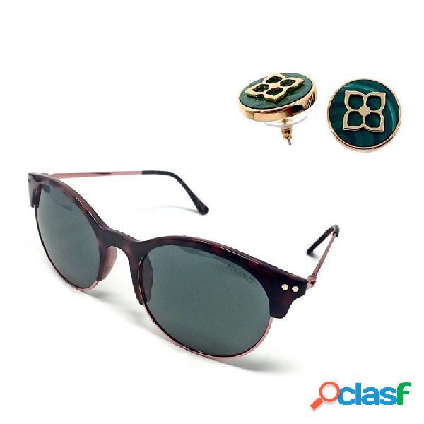 Juego pertegaz gafas sol pz20020 563 pendientes malaquita