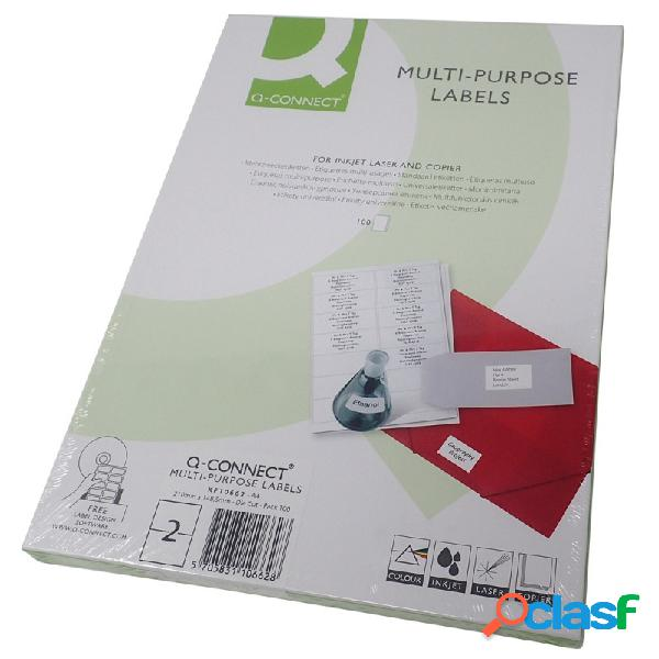 Etiquetas adhesivas 210x148mm. 100 uds. 2 etiquetas/hoja a4