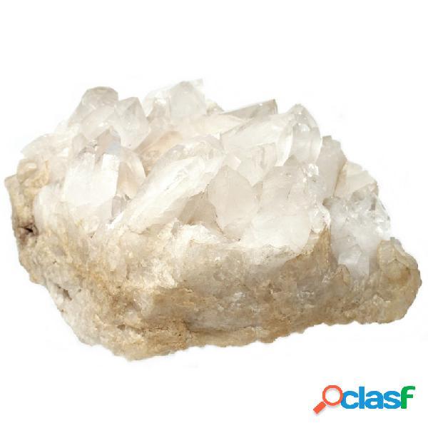 Piedra mineral cuarzo beige diagonal 20cm.