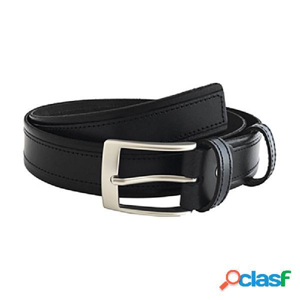 Cinturón piel cosido negro