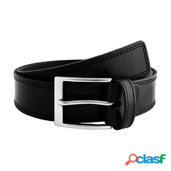 Cinturón piel urban cosido negro
