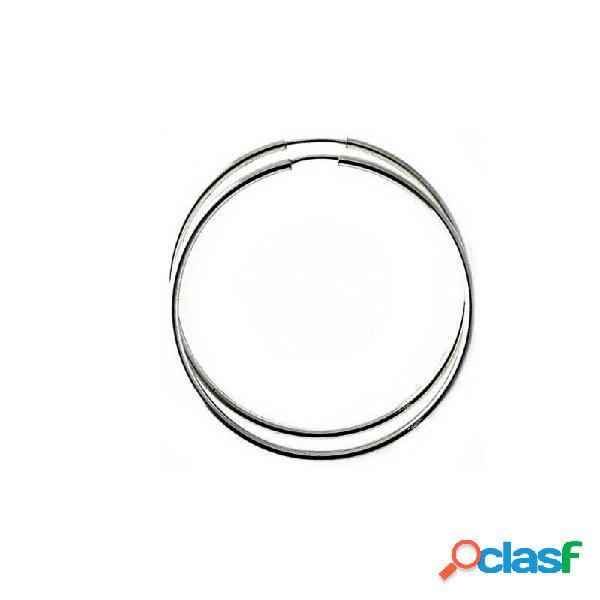Pendientes aros plata ley 925m finos lisos 45mm. diámetro