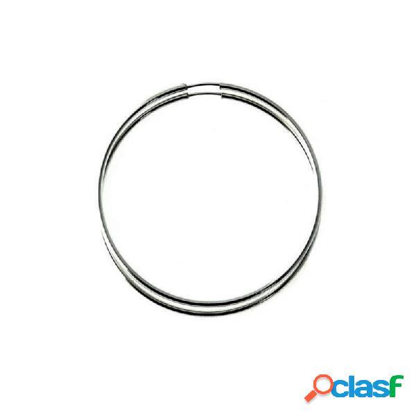 Pendientes aros plata ley 925m finos lisos 50mm. diámetro
