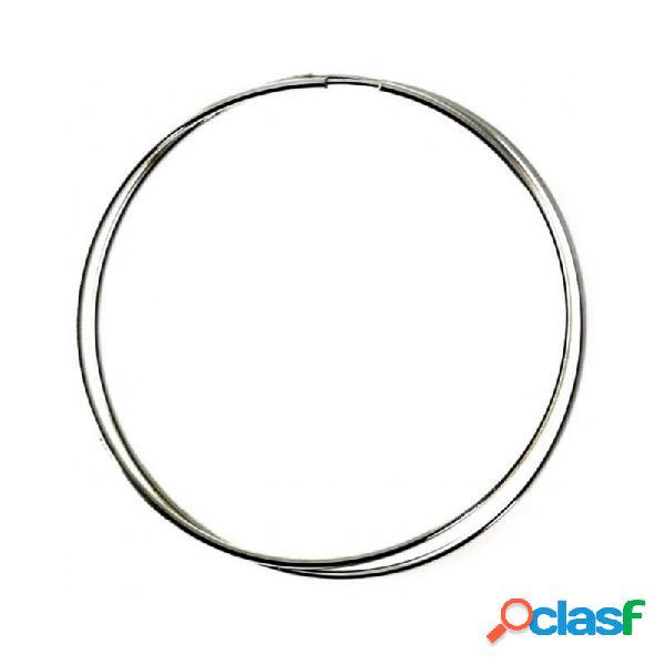 Pendientes aros plata ley 925m finos lisos 70mm. diámetro