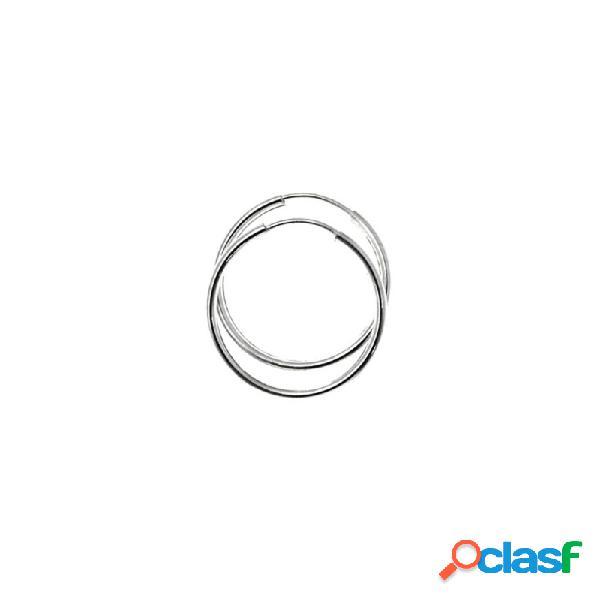 Pendientes aros plata ley 925m lisos 20mm. diámetro interior