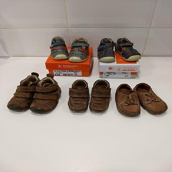 5 pares zapatos talla 20-22