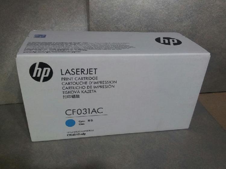 Cartucho hp laserjet cyan cf031ac
