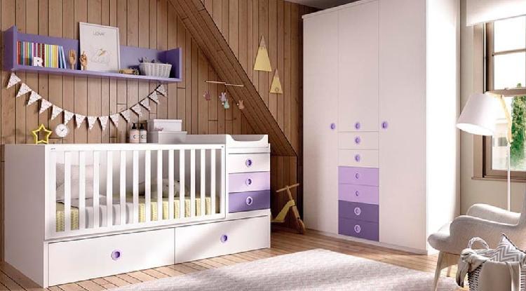 Habitación para bebe con cuna convertible rmb#