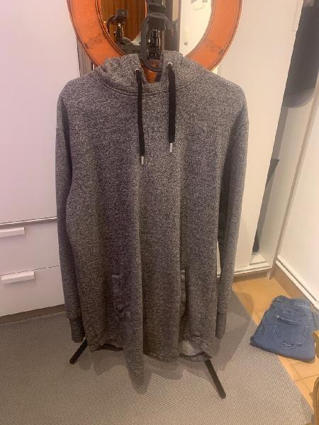 Jersey largo con capucha h&m