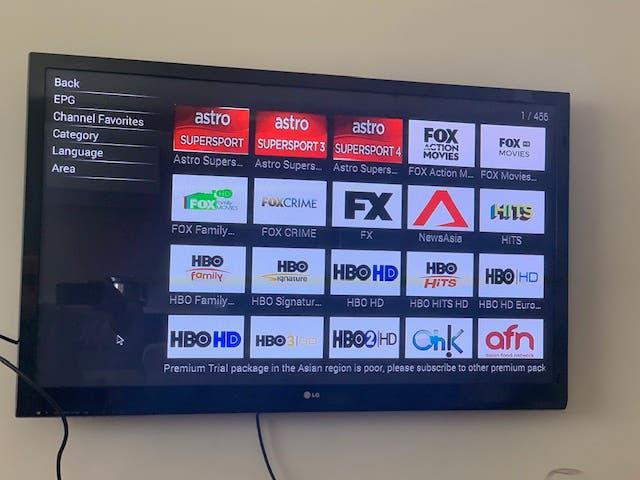Tv box con mando multifuncion