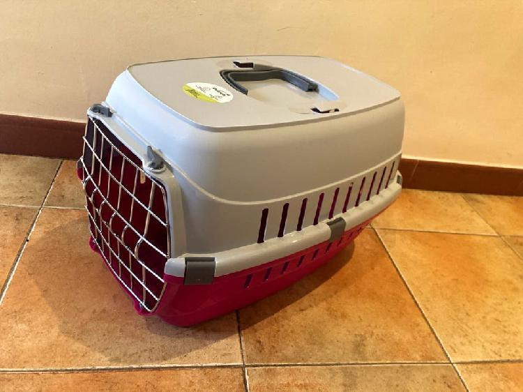 Transportín mascotas nuevo color rosa