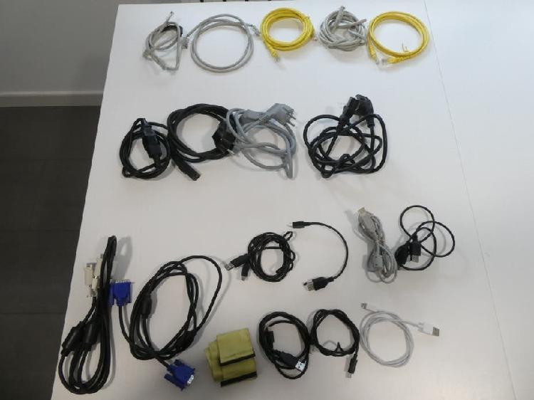Cables de audio y electricidad