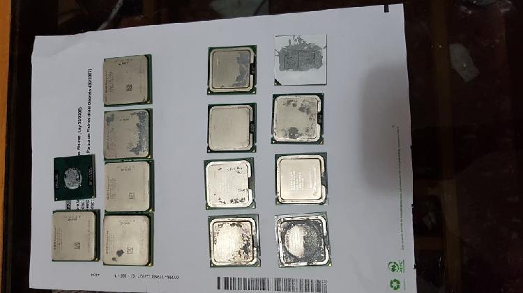 Procesadores intel son 775 hay dual core.