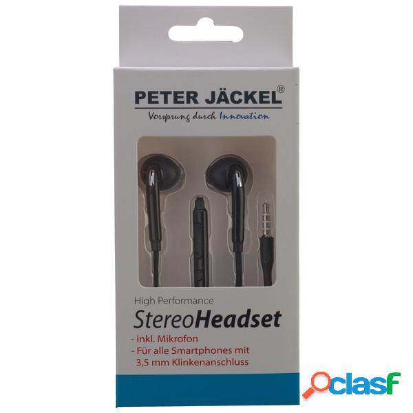 Peter jack auriculares estéreo 3. 5mm sonido pro - negro