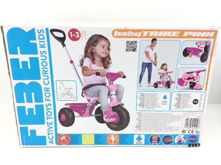 15 % juguetes bebes otros feber baby trike pink
