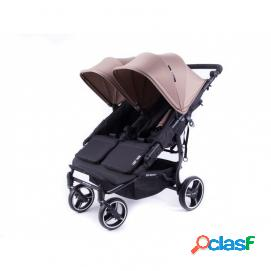 Silla de paseo gemelar baby monsters easy twin 3 s taupe