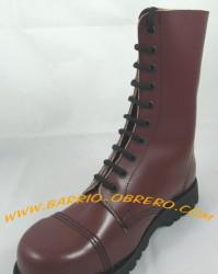 Botas de piel con puntera metal - steel ground (made in