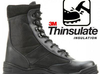 Botas militares con puntera metal - thinsulate insulation