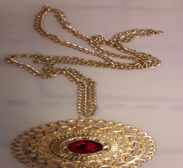 Collar precioso vintage bisuteria color oro