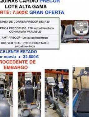 LOTE GIMNASIO PRECOR, CINTA DE CORRER, ELIPTIC...