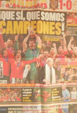 Periodico Marca mundial Sudafrica España