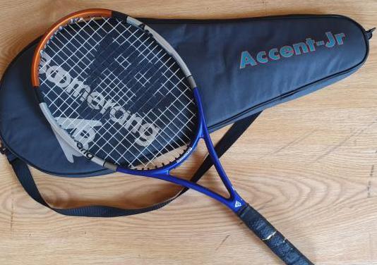Raqueta de tenis Boomerang con funda