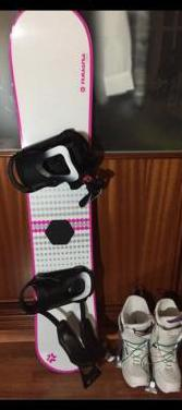 Tabla snowboard botas