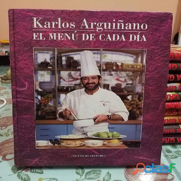 Carlos arguiñano el menú de cada día. círculo de lectores. año 1992. impecable.