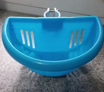 Cesta bicicleta patinete azul infantil