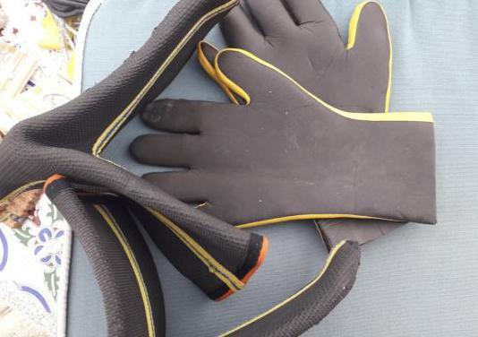 escarpines y guantes neopreno