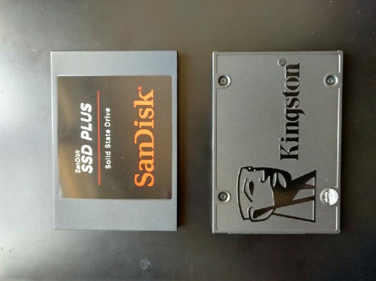 2x disco duro sólido ssd 480 gb sandisk kingston