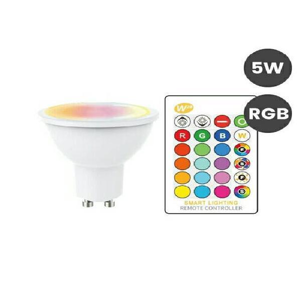 Bombilla led gu10 5w colores