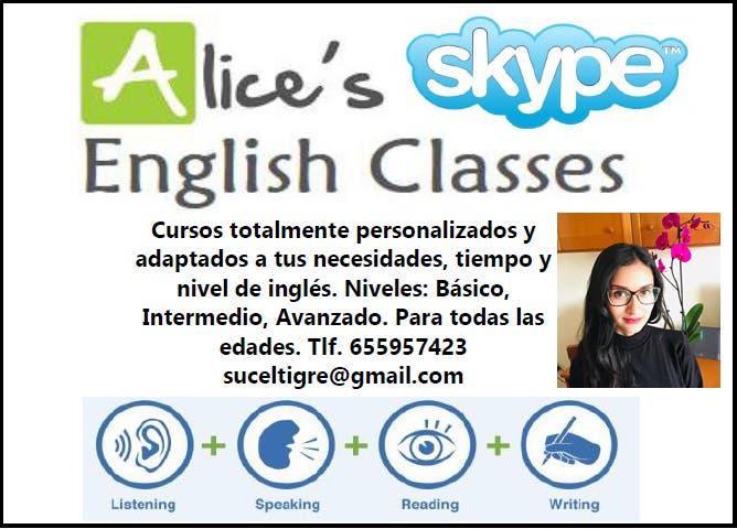 Clases de inglés (skype)!