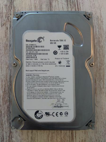 Disco duro seagate 250gb