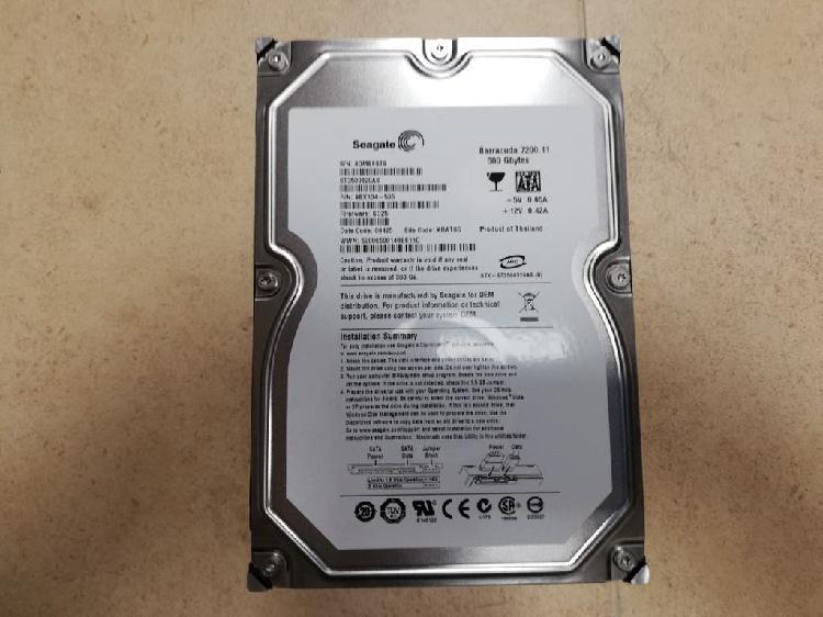 "Disco duro 3'5"" seagate barracuda 500 gb. sata"