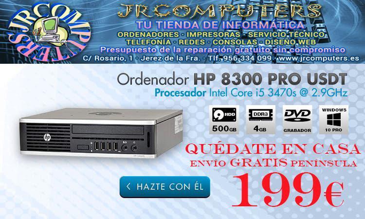 Hp 8300 pro usdt/i5/500gb hdd/4gb