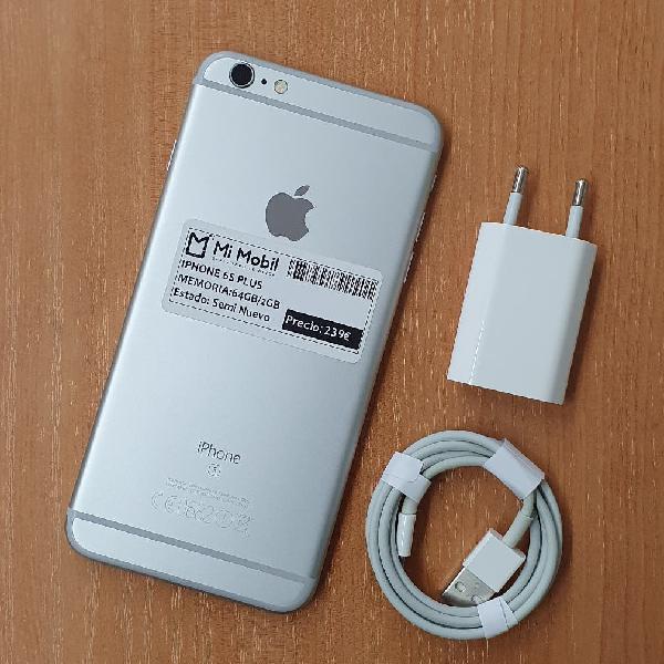 Iphone 6s plus 64gb silver - usado