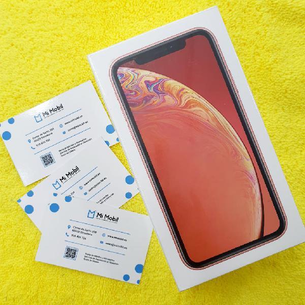Iphone xr 256gb coral nuevo (tienda)