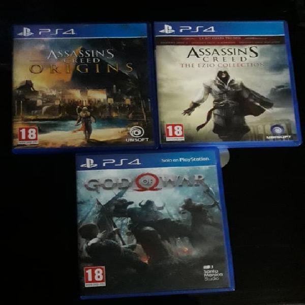 Lote de 3 juegos ps4
