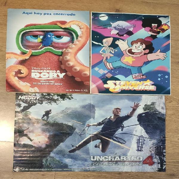 Lote pósters exclusivos juegos, series...