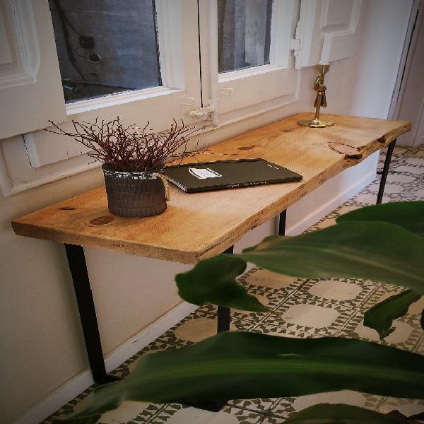 Mesa recibidor, consola estilo rústico