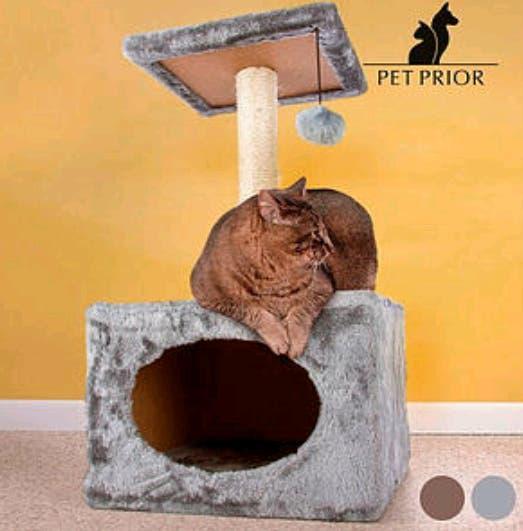 Rascador gatos con casita pet prior
