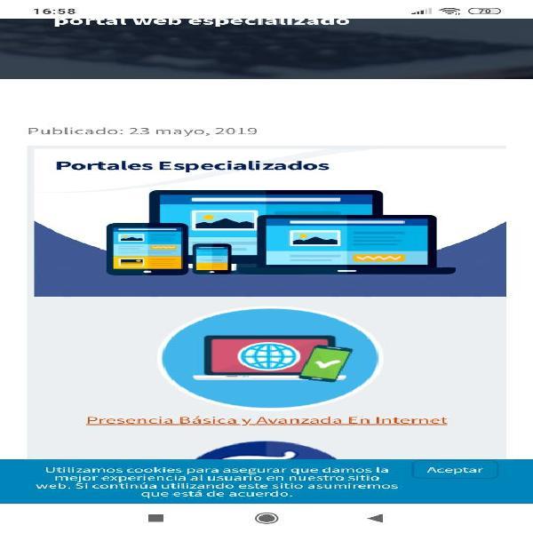 Sitios web , e-commerce y páginas personalizadas