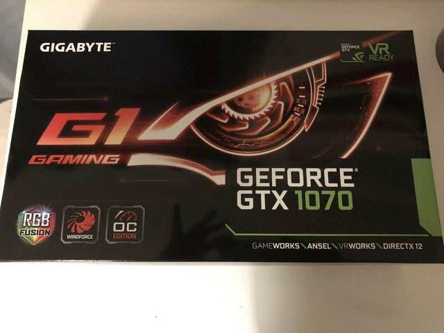 Tarjeta gráfica gigabyte geforce gtx 1070 g1