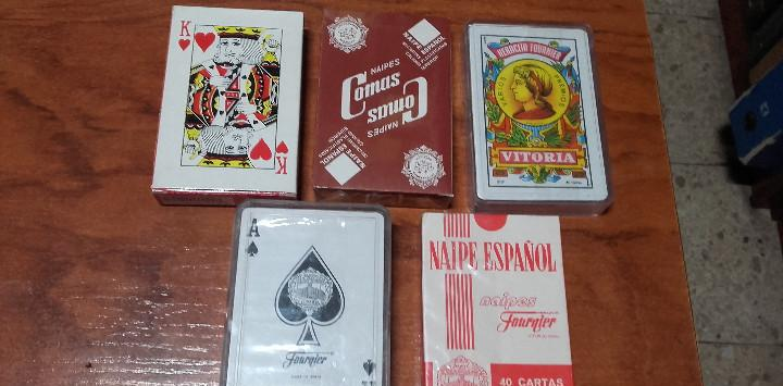 Baraja de cartas lote 5 barajas precintadas