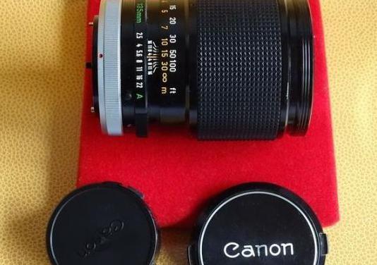 Canon fd 135mm. f2.5 sc