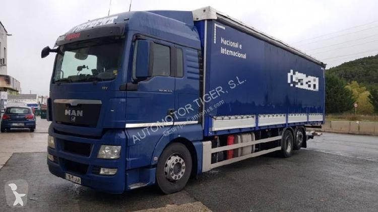 Camión MAN lonas deslizantes TGX 26.440 6x2 Diesel Euro 5