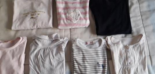 Lote camisetas niña 3 años