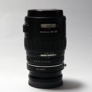 Montaje a sony/ canon de objetivo pentax-fa 28-80
